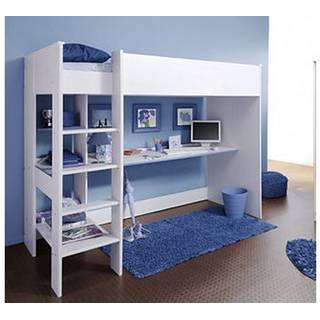 hochbett jugendbett kinderbett mit schreibtisch smoozy. Black Bedroom Furniture Sets. Home Design Ideas