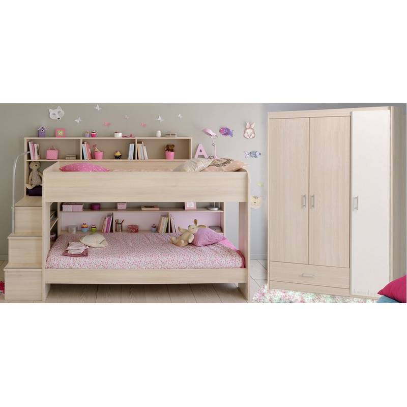 etagenbett bettschubkasten kleiderschrank akazie bibop 799 00. Black Bedroom Furniture Sets. Home Design Ideas